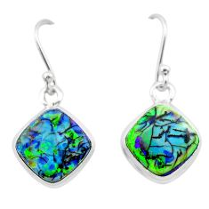 5.57cts multi color sterling opal 925 sterling silver dangle earrings t26305