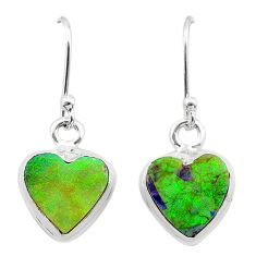 4.62cts multi color sterling opal 925 sterling silver dangle earrings t26306