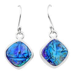 4.90cts multi color sterling opal 925 sterling silver dangle earrings t26307