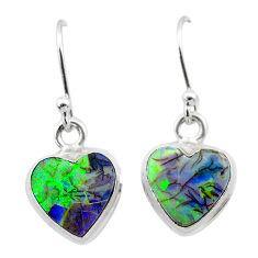 4.53cts multi color sterling opal 925 sterling silver dangle earrings t26311