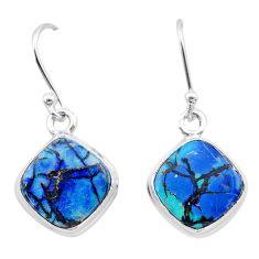 5.25cts multi color sterling opal 925 sterling silver dangle earrings t26314