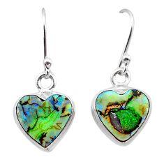 4.53cts multi color sterling opal 925 sterling silver dangle earrings t26315