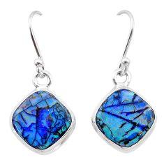4.82cts multi color sterling opal 925 sterling silver dangle earrings t26318