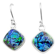 5.18cts multi color sterling opal 925 sterling silver dangle earrings t26319
