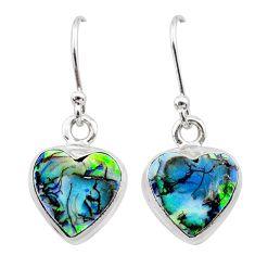 4.83cts multi color sterling opal 925 sterling silver earrings jewelry t26327