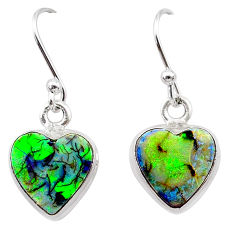 4.86cts multi color sterling opal 925 sterling silver earrings jewelry t26328