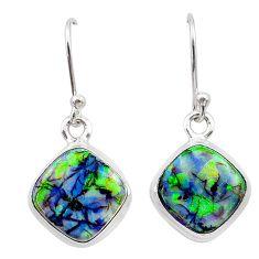 5.58cts multi color sterling opal 925 sterling silver earrings jewelry t26330