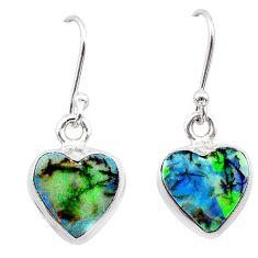 4.94cts multi color sterling opal 925 sterling silver earrings jewelry t26331