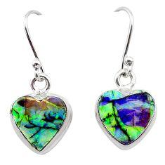 4.53cts multi color sterling opal 925 sterling silver earrings jewelry t26332