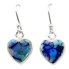 4.51cts multi color sterling opal 925 sterling silver earrings jewelry t26334