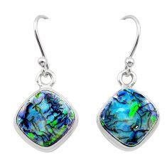 5.79cts multi color sterling opal 925 sterling silver earrings jewelry t26337