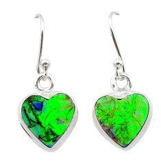 4.85cts multi color sterling opal 925 sterling silver earrings jewelry t26338