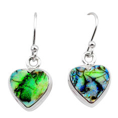 4.88cts multi color sterling opal 925 sterling silver earrings jewelry t26340