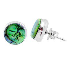 5.55cts multi color sterling opal 925 sterling silver stud earrings r62867