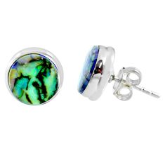 5.57cts multi color sterling opal 925 sterling silver stud earrings r62870