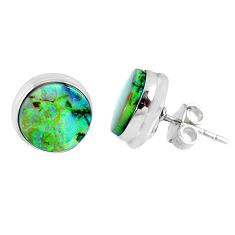 5.87cts multi color sterling opal 925 sterling silver stud earrings r62879