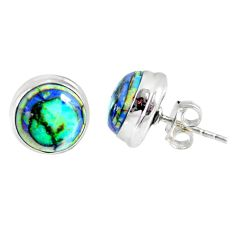 5.87cts multi color sterling opal 925 sterling silver stud earrings r62880