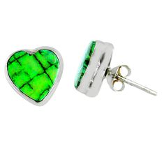 4.90cts multi color sterling opal heart 925 sterling silver stud earrings r62845