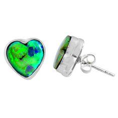 5.22cts multi color sterling opal heart 925 sterling silver stud earrings r62912