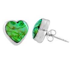 4.85cts multi color sterling opal heart 925 sterling silver stud earrings r62918