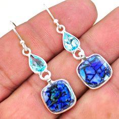 7.88cts multi color sterling opal topaz 925 silver dangle earrings t24811