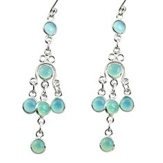 8.44cts natural aqua chalcedony 925 sterling silver dangle earrings r37527