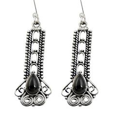 4.72cts natural black onyx 925 sterling silver dangle earrings jewelry d41163