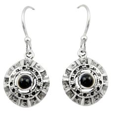 1.91cts natural black onyx 925 sterling silver dangle earrings jewelry d46813