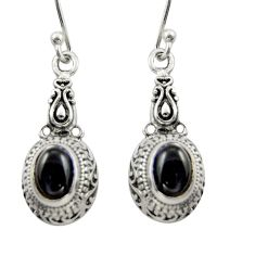 2.85cts natural black onyx 925 sterling silver dangle earrings jewelry d46942