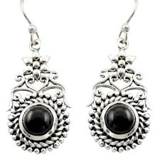 2.50cts natural black onyx 925 sterling silver dangle earrings jewelry d47001