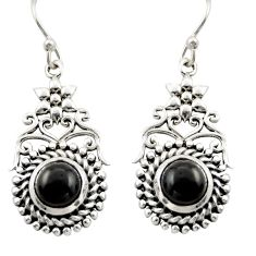2.50cts natural black onyx 925 sterling silver dangle earrings jewelry d47002