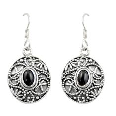 2.26cts natural black onyx 925 sterling silver dangle earrings jewelry d47023