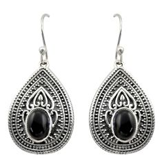 4.54cts natural black onyx 925 sterling silver dangle earrings jewelry d47043