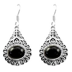 8.70cts natural black onyx 925 sterling silver dangle earrings jewelry d47072
