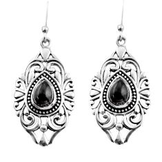 4.55cts natural black onyx 925 sterling silver dangle earrings jewelry d47101