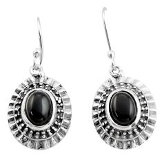 4.55cts natural black onyx 925 sterling silver dangle earrings jewelry d47121