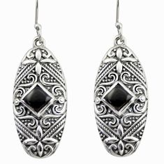 4.21cts natural black onyx 925 sterling silver dangle earrings jewelry d47142