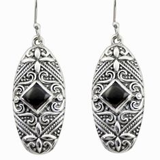 4.12cts natural black onyx 925 sterling silver dangle earrings jewelry d47145