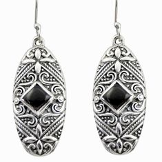 3.89cts natural black onyx 925 sterling silver dangle earrings jewelry d47146