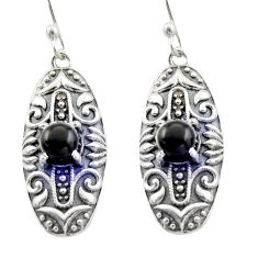 2.11cts natural black onyx 925 sterling silver dangle earrings jewelry d47147