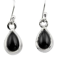 4.34cts natural black onyx 925 sterling silver dangle earrings jewelry r26705