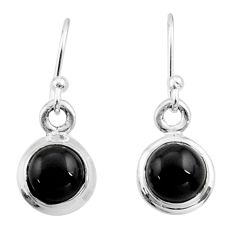 4.60cts natural black onyx 925 sterling silver dangle earrings jewelry r26729