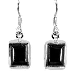 6.52cts natural black onyx 925 sterling silver dangle earrings jewelry r60688