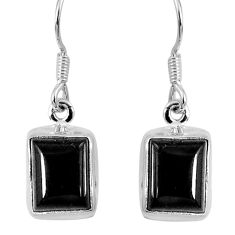 6.19cts natural black onyx 925 sterling silver dangle earrings jewelry r60689