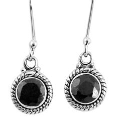 2.72cts natural black onyx 925 sterling silver dangle earrings jewelry r60690