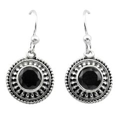 2.93cts natural black onyx 925 sterling silver dangle earrings jewelry t30068