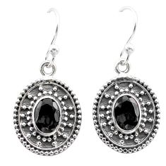 3.25cts natural black onyx 925 sterling silver dangle earrings jewelry t30108