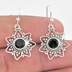 2.91cts natural black onyx 925 sterling silver dangle earrings jewelry t30126