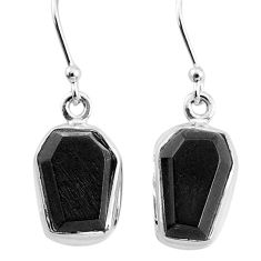 9.34cts natural black onyx 925 sterling silver dangle earrings jewelry t3676