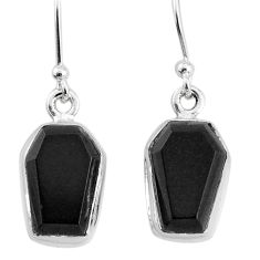 9.27cts natural black onyx 925 sterling silver dangle earrings jewelry t3680